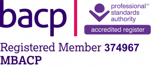 Logo and membership number for BACP